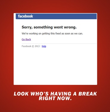 Facebook Was Down for Half an Hour